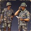 U.S. Infantry Officer & RTO Vietnam´68 / 1:35