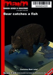 Bear catches a fish / 1:24