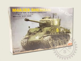 SHERMAN M4A3E8 - Easy Eight - w/Workable Track links / 1:35