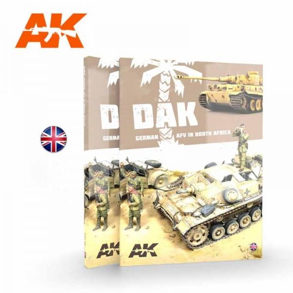 AK Interactive DAK German AFV in North Africa - Book - English