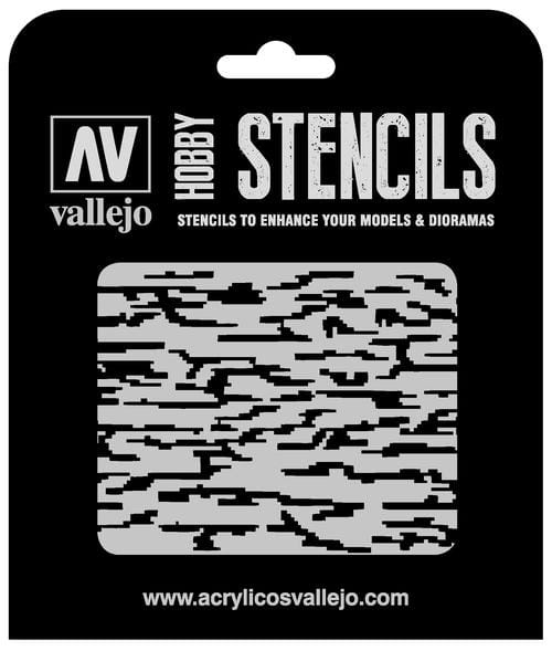 Vallejo Hobby Stencils: Pixelated Modern Camo Markings - 1:32
