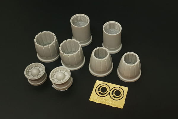 F/A-18 A/B/C/D Hornet GE F404 engine nozzle (Kinetic kit) / 1:48