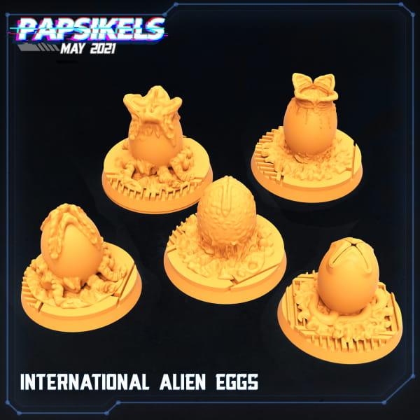 Human Space Crew - Alien Eggs (5pcs)