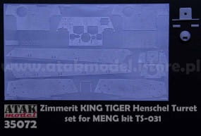 ZIMMERIT KING TIGER Henschel Turret - Meng - / 1:35