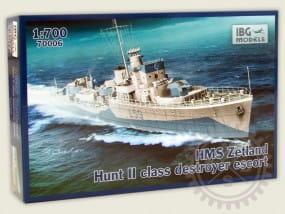 HMS Zetland 1942 Hunt II class destroyer escort / 1:700