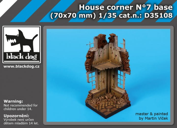 Black Dog House corner N°7 base / 1:35
