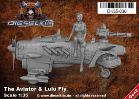 The Aviator + Lulu Fly - Steam Punk Vehicle / 1:35