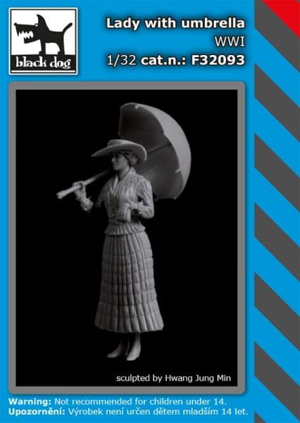 Lady with umbrella WW I / 1:32