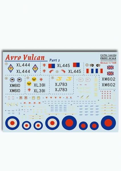 Avro Vulkan - part 2 (wet decals) / 1:144