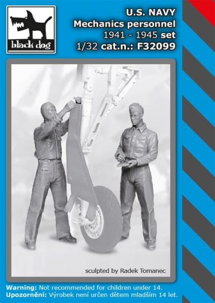 US NAVY mechanics personnel 1941-45 set / 1:32
